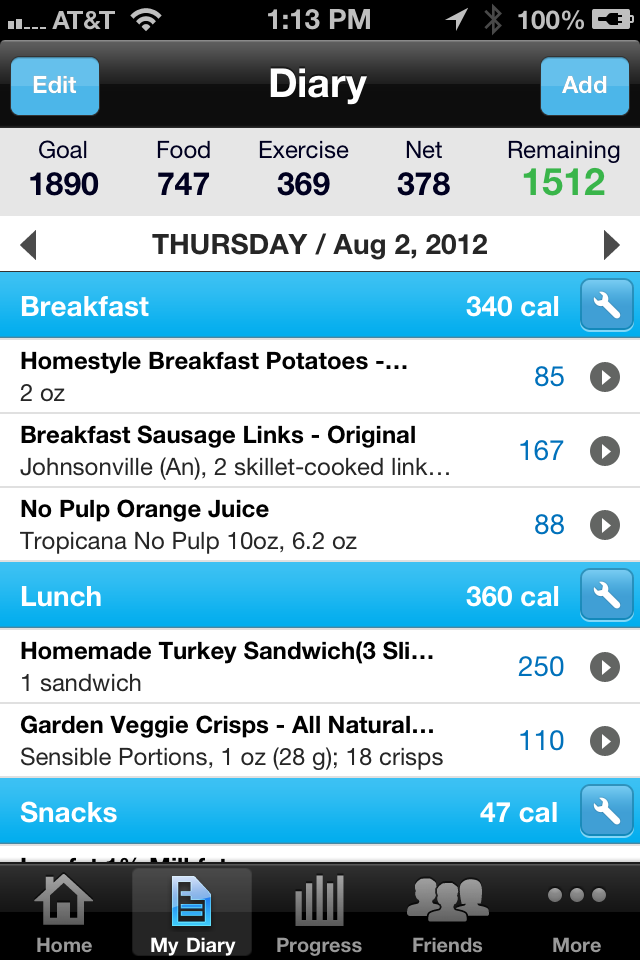 Calorie Counter & Diet Tracker by MyFitnessPal Screenshot 1